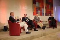Prof. Grunwald, Prof. Swarat, Prof. Nagel, Landesbischof Bedford-Strohm (v.l.)