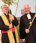 Bischof Wiesemann und Landesbischof Weber bei der Feier der ökumenischen Tags der Schöpfung 2012 in Nagold