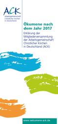 """Broschüre """"Ökumene nach 2017"""""""