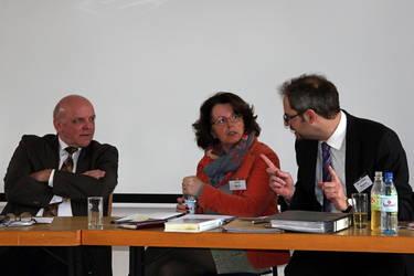 Bischof Peter Johanning (NAK), Anna Werle (stv. Vorsitzende ACK Südwest), Jochen Wagner (Vorsitzender ACK Südwest), Foto: Renate Thesing