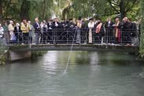 Orthodoxe Wasserweihe im Englischen Garten