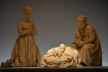 Krippenbild Figuren aus dem Berliner Dom