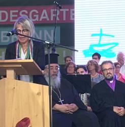 Andrea Schneider predigte beim Tag der Schöpfung 2019.