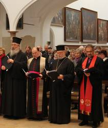Erzpriester Radu Constantin Miron und Prälat Dr. Bertram Meier (2.v.l.) beim Gottesdienst zur Gebetswoche für die Einheit der Christen 2018