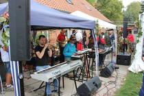 """Die integrative Band """"Seeside"""" während der Musik im Gottesdienst, Foto: ACK"""