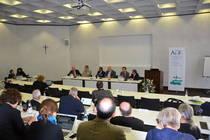 Podium zum Studientag zu 20 Jahre Gemeinsame Erklärung zur Rechtfertigungslehre