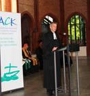Fernando Enns, mennonitischer Pastor und Professor, hielt die Predigt. (Foto: ACK)