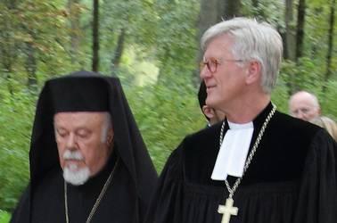 Metropolit Augoustinos und Landesbischof Bedford-Strohm