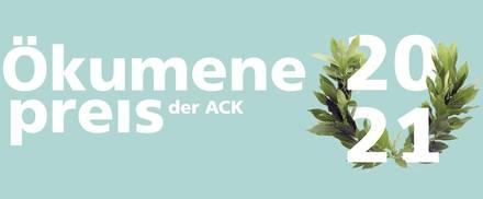 Das Logo des Ökumenepreises der ACK 2021.