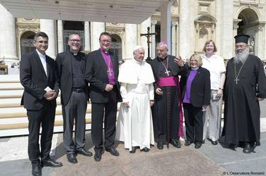 Vorstand ACK und Papst
