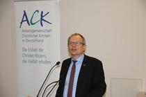 Diakoniepräsident Ulrich Lilie sieht in Zukunft eine zunehmend wichtiger werdende Partnerschaft zwischen Kirchen und gesellschaftlichen Einrichtungen, Foto: ACK