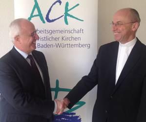 Apostel Volker Kühnle und Domkapitular Peter Birkhofer