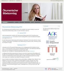 Die neue Website www.bibelsonntag.de, Foto: Deutsche Bibelgesellschaft