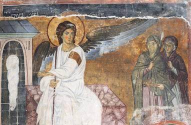Engel erscheint den Frauen am Grab