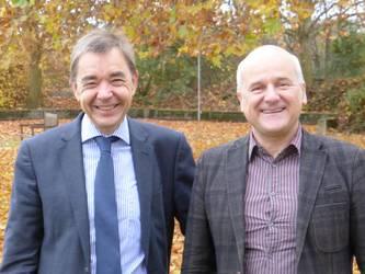 Der neue Vorstand des DÖSTA: Prof. Dr. Thomas Söding, Prof. Dr. Bernd Oberdorfer (v.l.), Foto: ACK