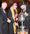 Landesbischof Friedrich Weber, Bischof Karl-Heinz Wiesemann, Erzpriester Radu Constantin Miron