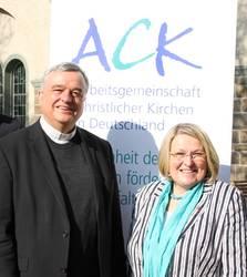 Bischof Wiesemann und Bischöfin Wenner