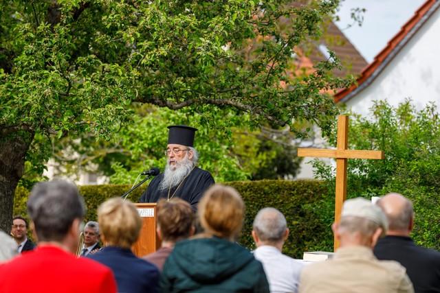 Vorsitzender der ACK bei der Predigt