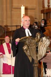 Die Predigt hielt der Vorsitzende der ACK in Deutschland, Landesbischof Friedrich Weber.