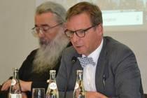"""Pfarrer Sören Lenz, Exekutivsekretär der KEK, gab einen Impuls zur Frage """"Kurz nach der Wahl - vor dem Brexit. Europa vor einer Zerreißprobe?"""""""
