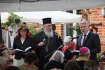Rossitza Dikova-Osthus, Erzpriester Radu Constantin Miron, Pastor Christoph Stiba, Foto: ACK